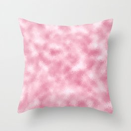 Strawberry & Cream Reflective Abstract Background Throw Pillow
