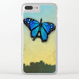 Paris' butterfly Clear iPhone Case