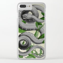Slytherin green Clear iPhone Case