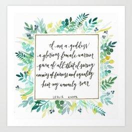I Am A Goddess Art Print