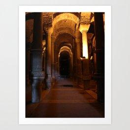 Istanbul. Basilica Cistern Art Print
