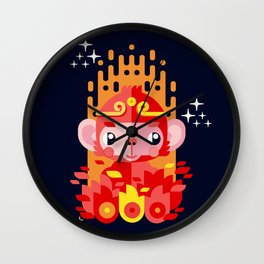 Fire Monkey Year Wall Clock