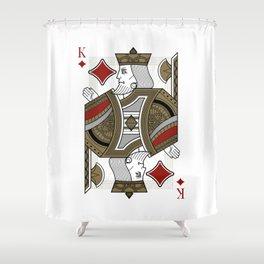Omnia Oscura King of Diamonds Shower Curtain
