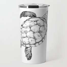 Sea Turtle - Pen and Ink Illustration Travel Mug