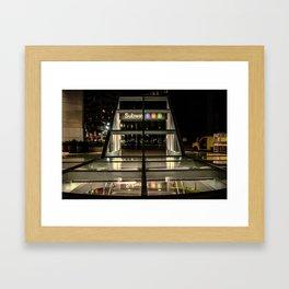 Subway Entrance 2012 Framed Art Print