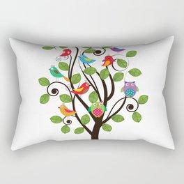Colorful birds Rectangular Pillow
