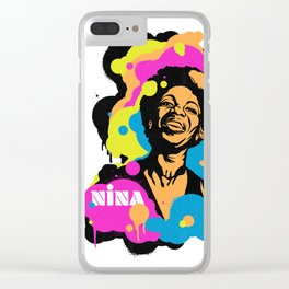 Soul Activism :: Nina Simone Clear iPhone Case