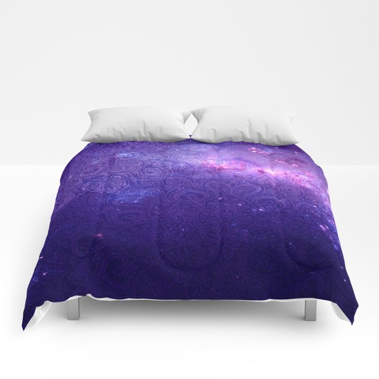 purple mandalas Comforters