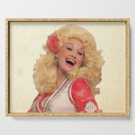 Dolly Parton - Watercolor Serving Tray