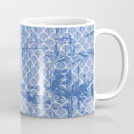Abstract texture on small scalllops in serenity blue Coffee Mug