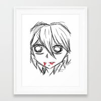 vampire Framed Art Prints featuring Vampire by Charity Smith