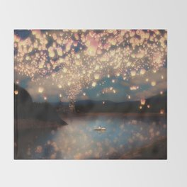 Love Wish Lanterns Throw Blanket