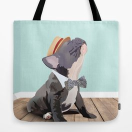 French Bulldog Singing His Heart Out, Barbershop Style Tote Bag