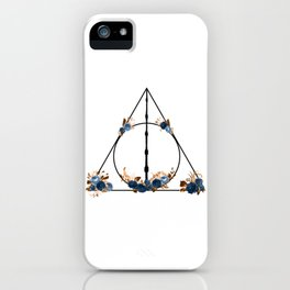 Deathly Hallows in Blue and Brown iPhone Case