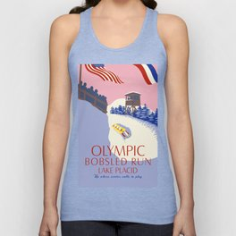 Lake Placid Olympic bobsled run Unisex Tank Top