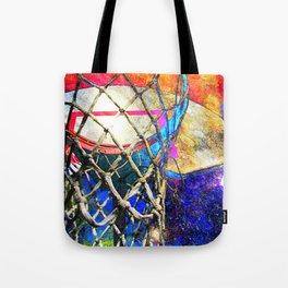 Colorful Basketball Art Tote Bag