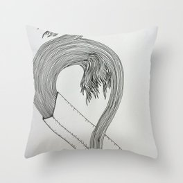 Drawing Weird Stuff Throw Pillow