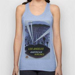 Los Angeles, American Air Lines - Vintage Poster Unisex Tank Top