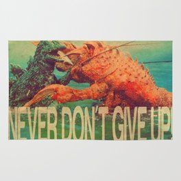 NEVER DON'T GIVE UP! Rug