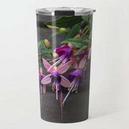 Fuchsia And Wood Travel Mug