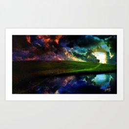 Moody Sunset Art Print