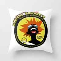 cowboy bebop Throw Pillows featuring Bebop Ed by AngoldArts