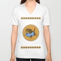 puppy V-neck T-shirts featuring Puppy. by Ly Stilinski