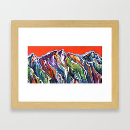 Freezing Hot Framed Art Print