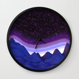 Mountains in Space Wall Clock