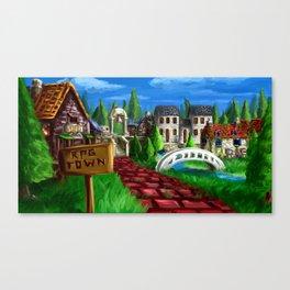 RPG Town Canvas Print