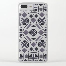 MonoTone Shape Pattern Clear iPhone Case