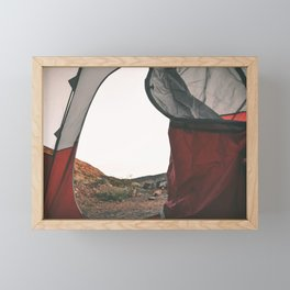 Camping Framed Mini Art Print