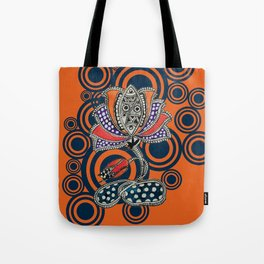 Madhubani - Lotus Fish 1 Tote Bag