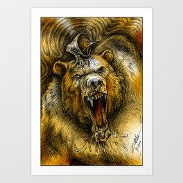 Bear Guardian (Color) Art Print