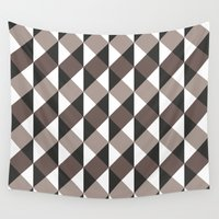 gray pattern Wall Tapestries featuring Pattern Gray by Sonia Marazia