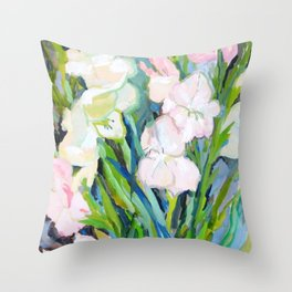 Gladiolus. Sword Lily. Flower. Bouquet. Throw Pillow