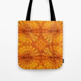 Golden Orange Colorburst Tote Bag