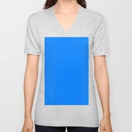 Azure Blue Unisex V-Neck
