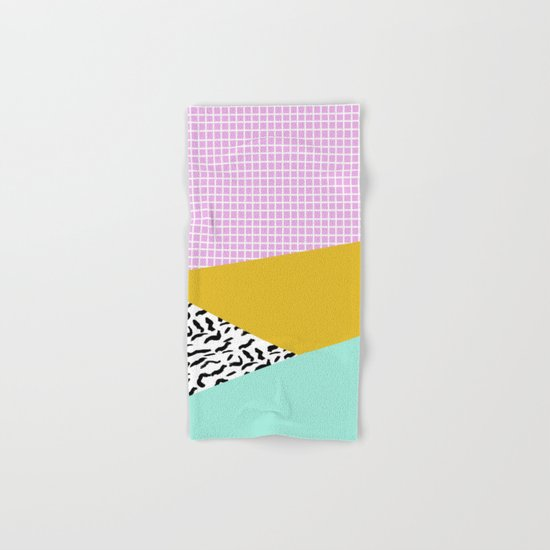 Decent - memphis retro neon throwback illustration pop art houseplant socal urban kids trendy art Hand & Bath Towel
