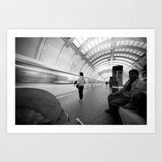 On the Metro, Washington DC Art Print