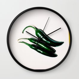 Hot (Peppers) Wall Clock
