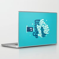 risa rodil Laptop & iPad Skins featuring Wibbly Wobbly Timey Wimey by Risa Rodil