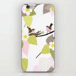 Sweet baby birds iPhone Skin