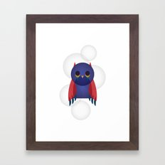 Búho Burbuja Framed Art Print