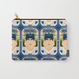 Baseball Blue Pinstripes - Deuce Crackerjack - June version Carry-All Pouch