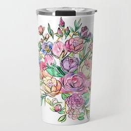 Floral Geometry Travel Mug