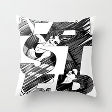 Faster II Throw Pillow