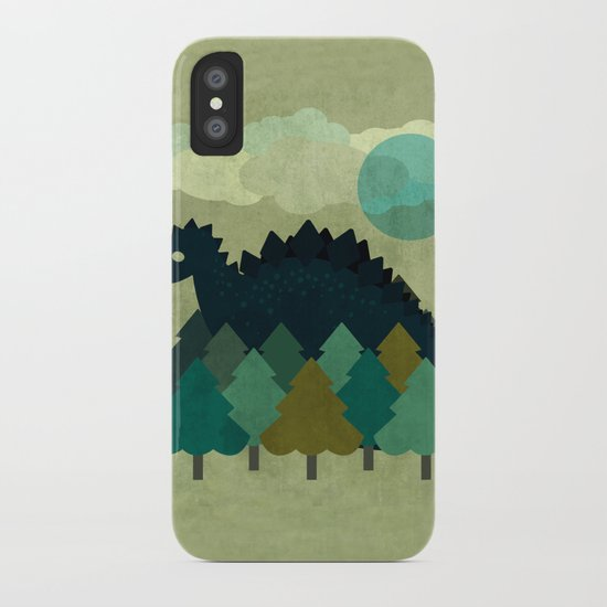 BLUE DINO iPhone Case