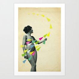 She's a Whirlwind Art Print