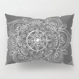 Gray mandala Pillow Sham